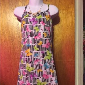 Multicolor bamboo and butterfly dress in size: 4